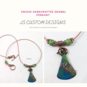Shop North Dakota Unique Handcrafted Enamel Pendant