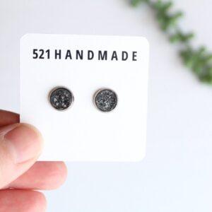 Shop North Dakota 8mm Shimmer Gray Druzy Stud (choose your setting)