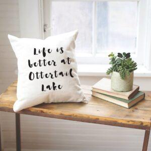 Shop North Dakota Personalized Lake Name Pillow