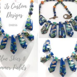 Shop North Dakota Lapis & Impression Jasper Drop Necklace
