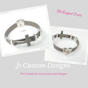 Shop North Dakota Cross on Leather Bracelet
