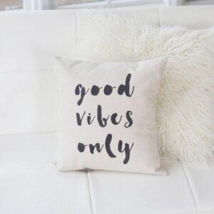 Shop North Dakota Good Vibes Only Pillow