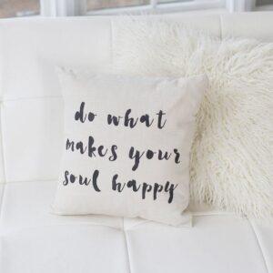 Shop North Dakota Do What Makes Your Soul Happy Pillow