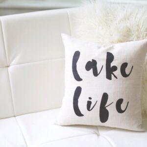 Shop North Dakota Lake Life Pillow