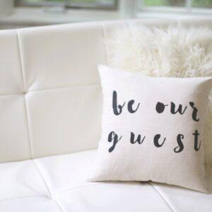 Shop North Dakota Be Our Guest Pillow