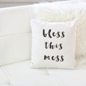 Shop North Dakota Bless This Mess Pillow