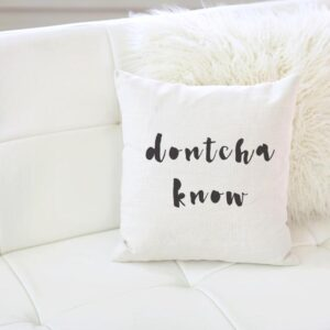 Shop North Dakota Dontcha Know Pillow