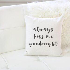 Shop North Dakota Always Kiss Me Goodnight Pillow