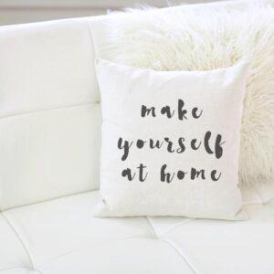 Shop North Dakota Make Yourself at Home Pillow