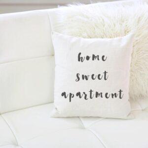 Shop North Dakota Home Sweet Apartment Pillow