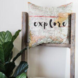 Shop North Dakota Explore Pillow