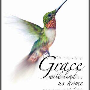 Shop North Dakota Hummingbird Amazing Grace Inspirational Art Print