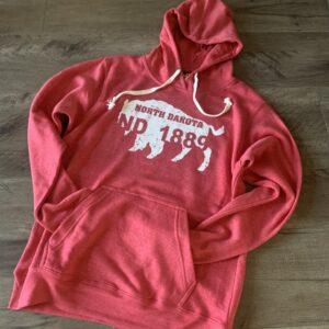Shop North Dakota North Dakota Bison Logo Hooded Sweatshirt
