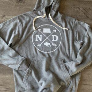 Shop North Dakota North Dakota Logo Hooded Sweatshirt