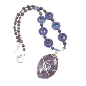 Shop North Dakota Wirewrapped Gemstone Pendant