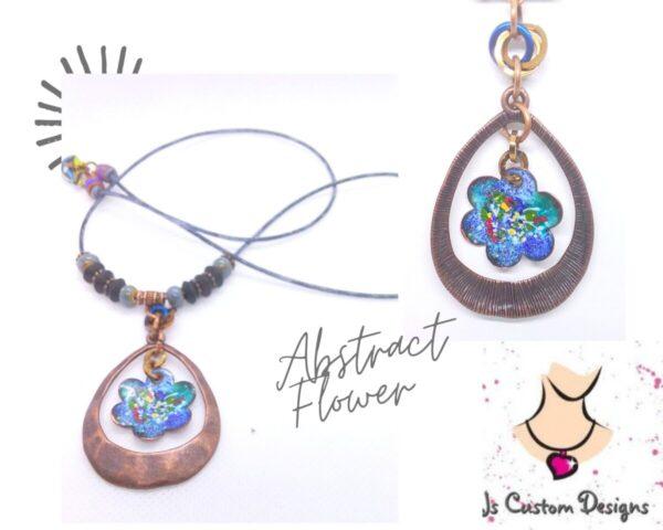 Shop North Dakota Abstract Enameled Flower Pendant