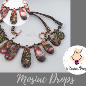 Shop North Dakota Gemstone Mosiac Drop Necklace