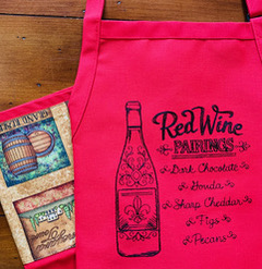 Shop North Dakota Red Wine Pairings Adult Apron