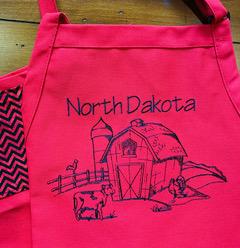 Shop North Dakota North Dakota Farm Scene Apron