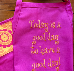 Shop North Dakota Today is a Good Day to have a Good Day – Pink Adult Apron