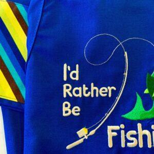 Shop North Dakota I'd Rather Be Fishing Apron