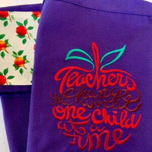 Shop North Dakota Teachers change the world one child at a time Apron