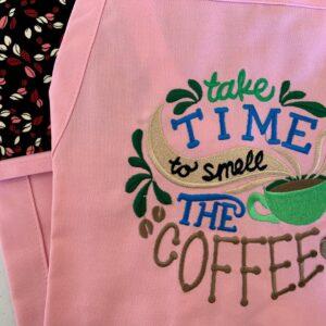 Shop North Dakota Take Time to smell The Coffee Apron