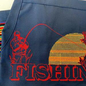 Shop North Dakota Fishing Design Apron