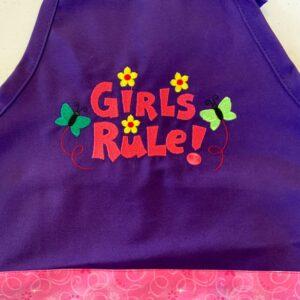 Shop North Dakota Child Apron-Girls Rule
