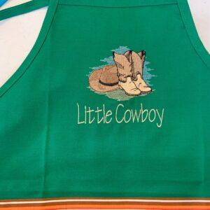 Shop North Dakota Little Cowboy Apron