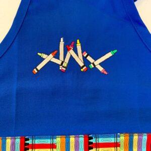 Shop North Dakota Crayons Child Apron