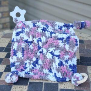 Shop North Dakota Blue, Purple & Grey Sensory lovey blanket