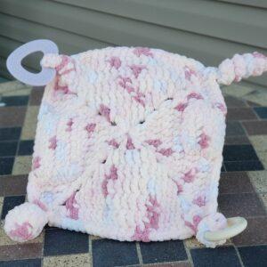 Shop North Dakota Pink, Lavender & Peach Sensory lovey blanket