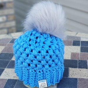 Shop North Dakota Blue & Light Grey Baby Hat