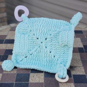 Shop North Dakota Turquoise Sensory lovey blanket