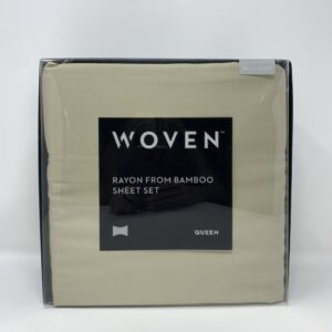 Shop North Dakota Tan Queen Bamboo Sheet Set