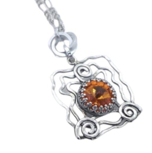 Shop North Dakota Swarovski Rivoli Crystal Necklace