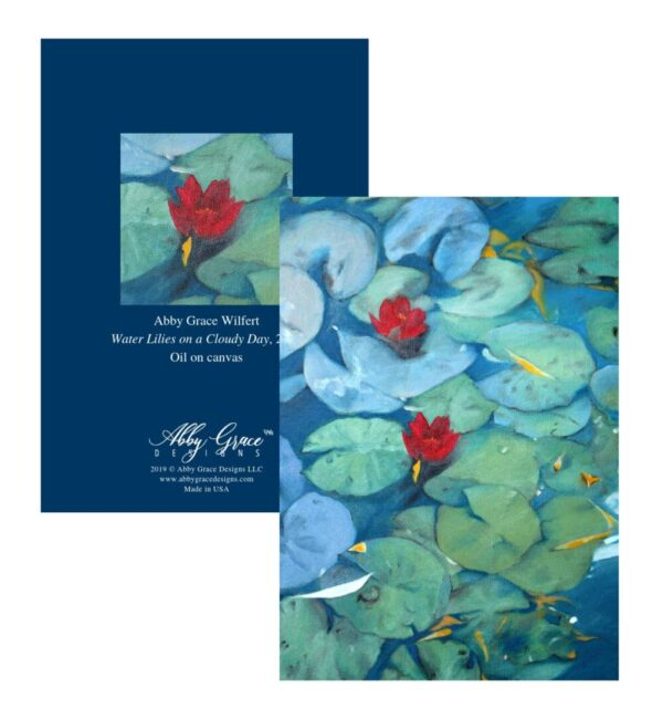 Shop North Dakota Water Lilies on a Cloudy Day Greeting Card