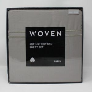 Shop North Dakota Supima Cotton Woven Queen Sheet Set
