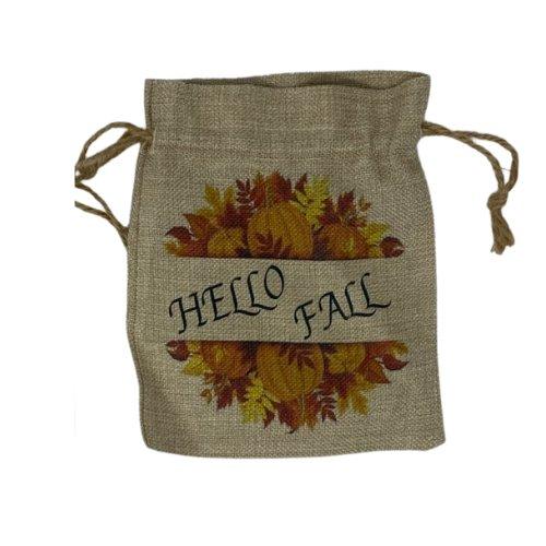 Shop North Dakota Fall Faux Burlap Bag