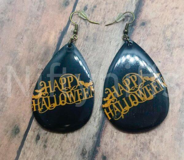 Shop North Dakota Happy Halloween Earrings